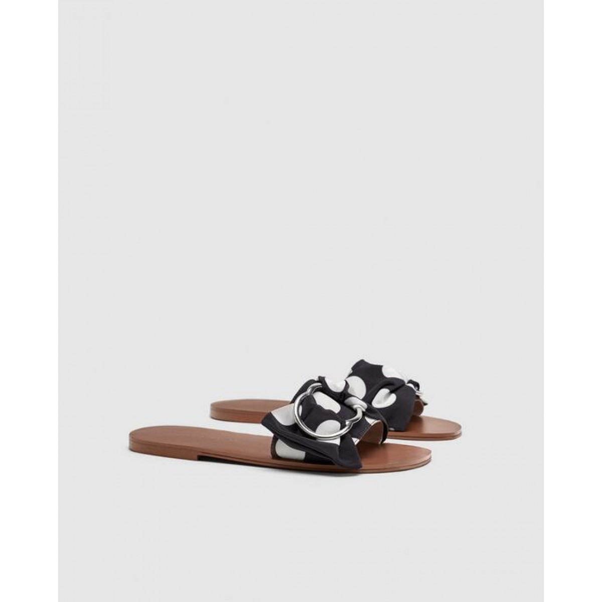 Zara Polka Dot Flat Sandals