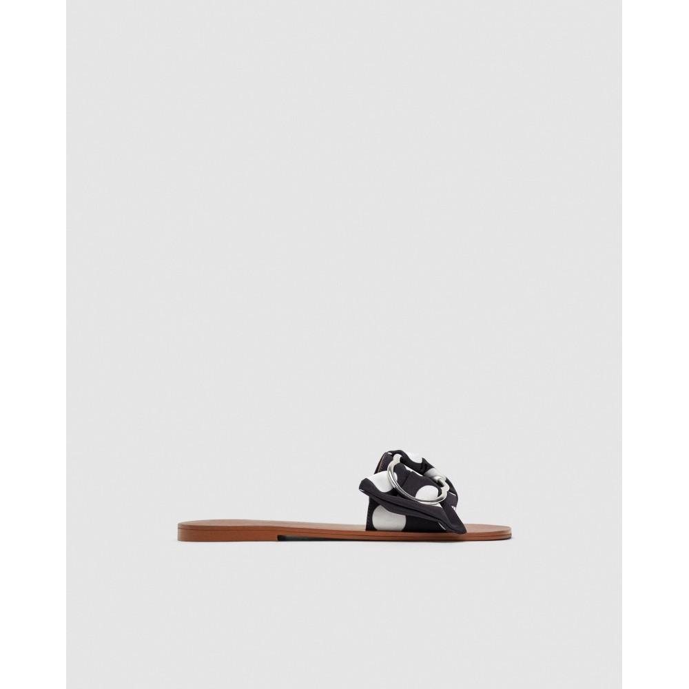 Zara Polka Dot Flat Sandals