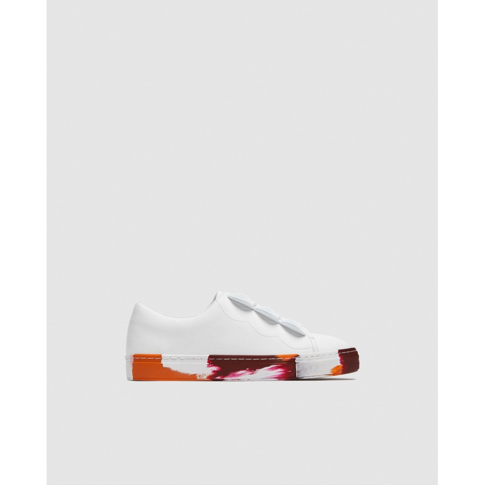 Zara Coloured Sole Sneakers