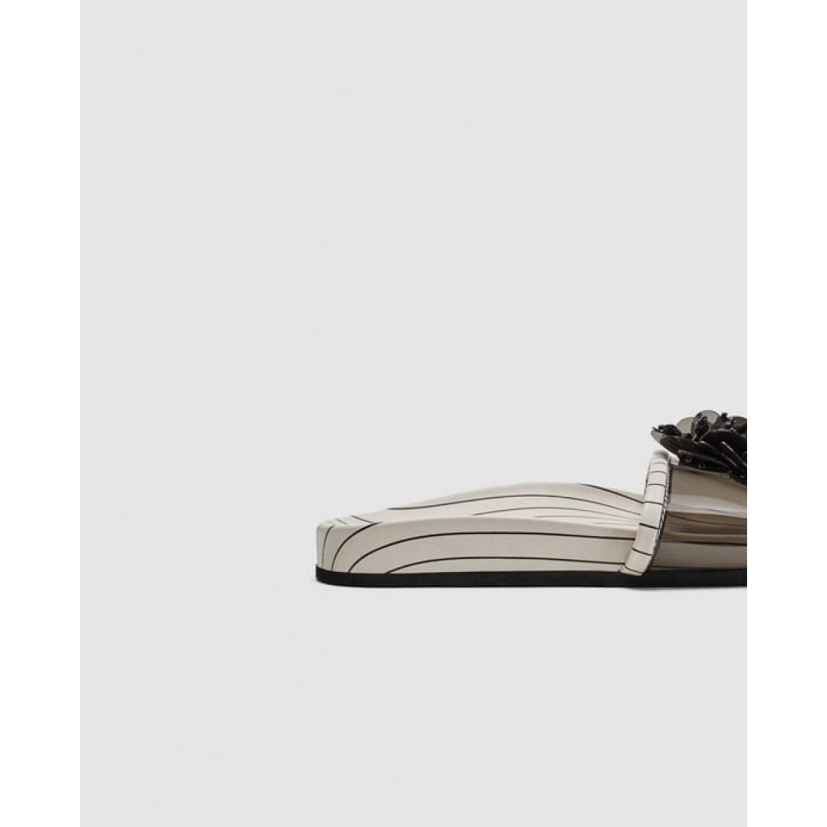 Zara Floral Slides