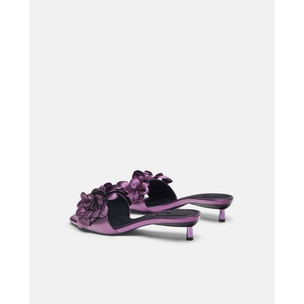 Zara High Heel Sandals With Floral Detail