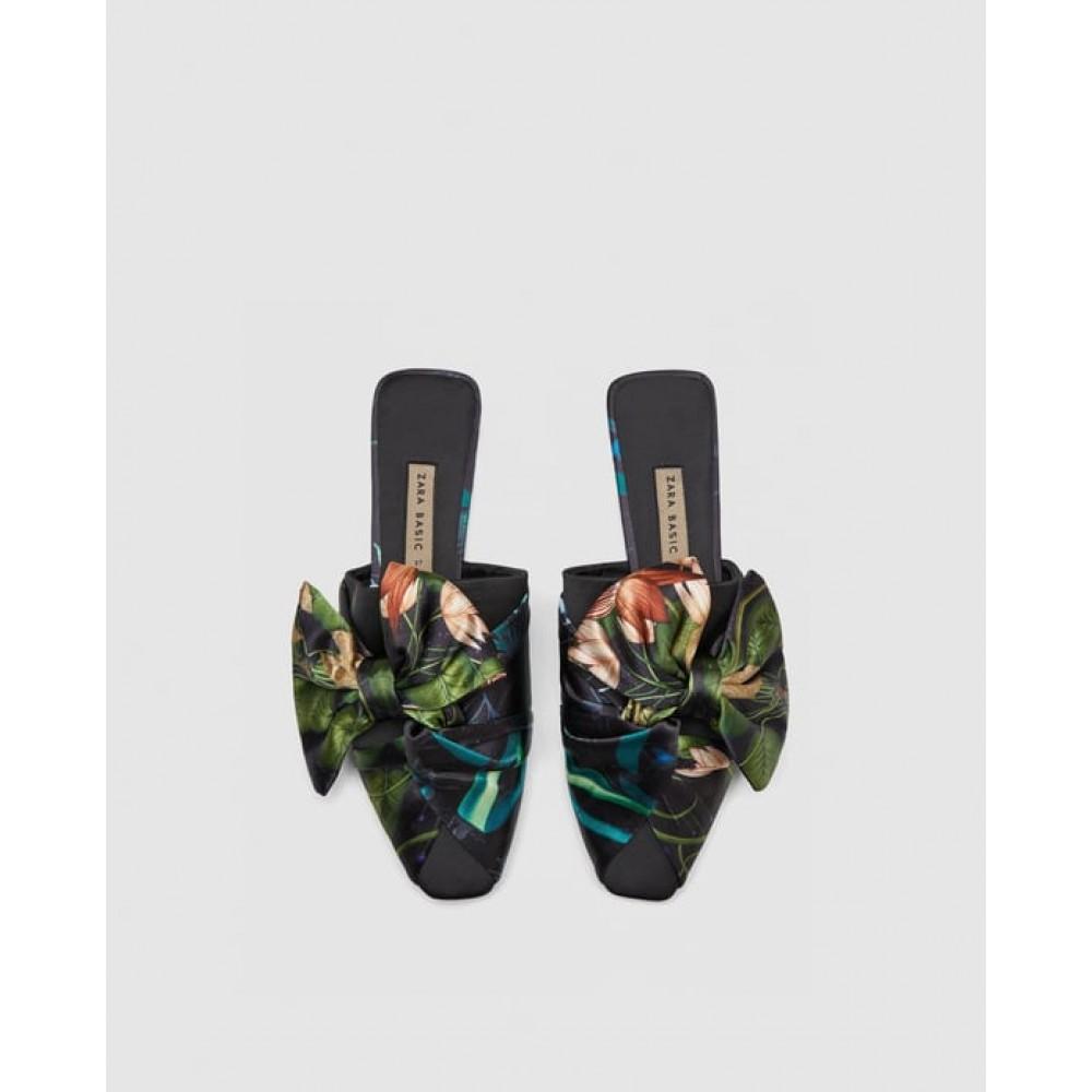 Zara Floral Mules