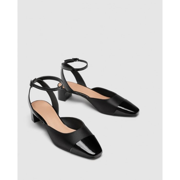 Zara Mid-Heel Slingback Shoes