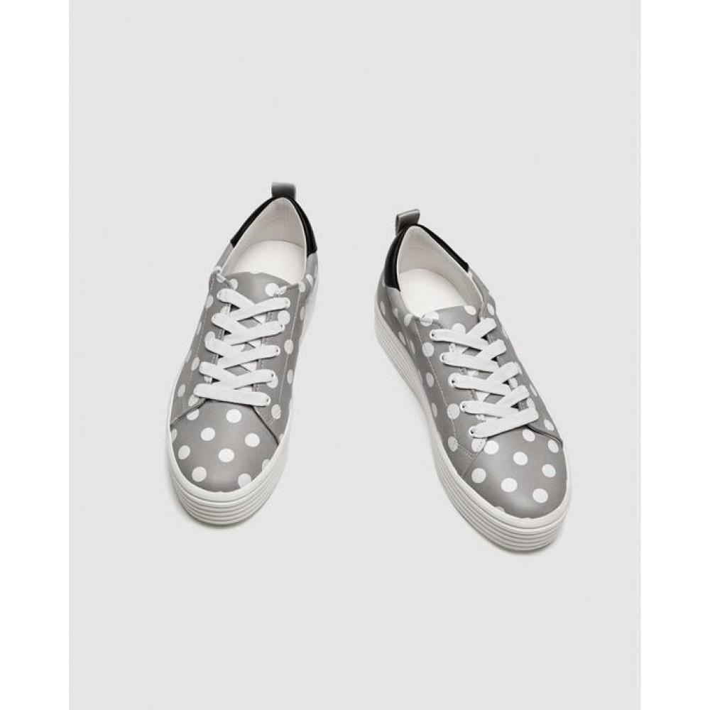 Zara Polka Dot Print Plimsolls