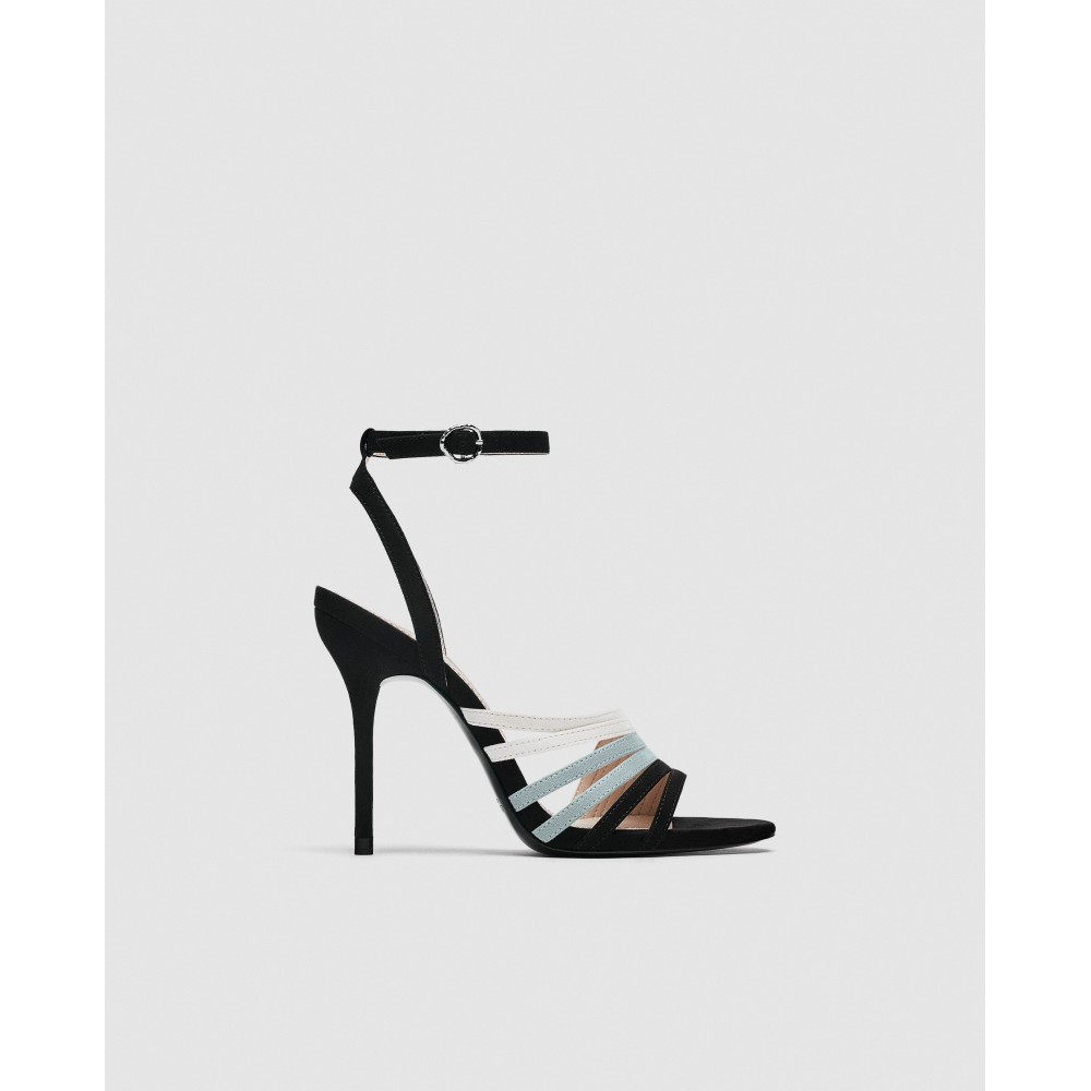 Zara High Heels With Contrasting Straps