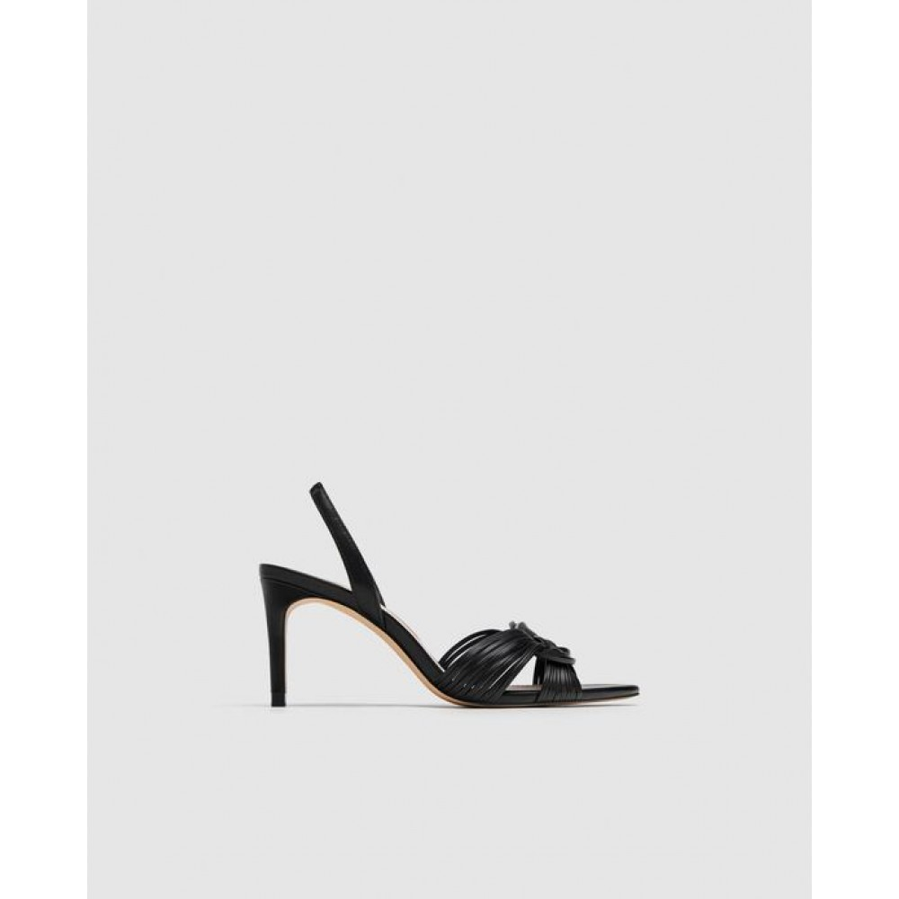 Zara Braided High-Heel Sandals