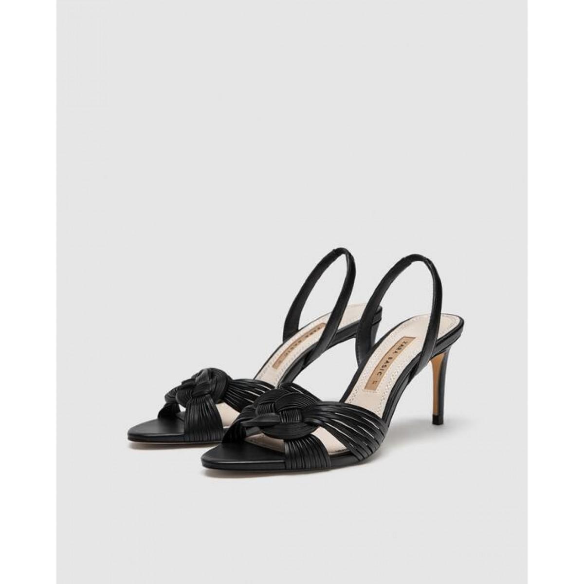 Zara Braided High-Heel Sandals