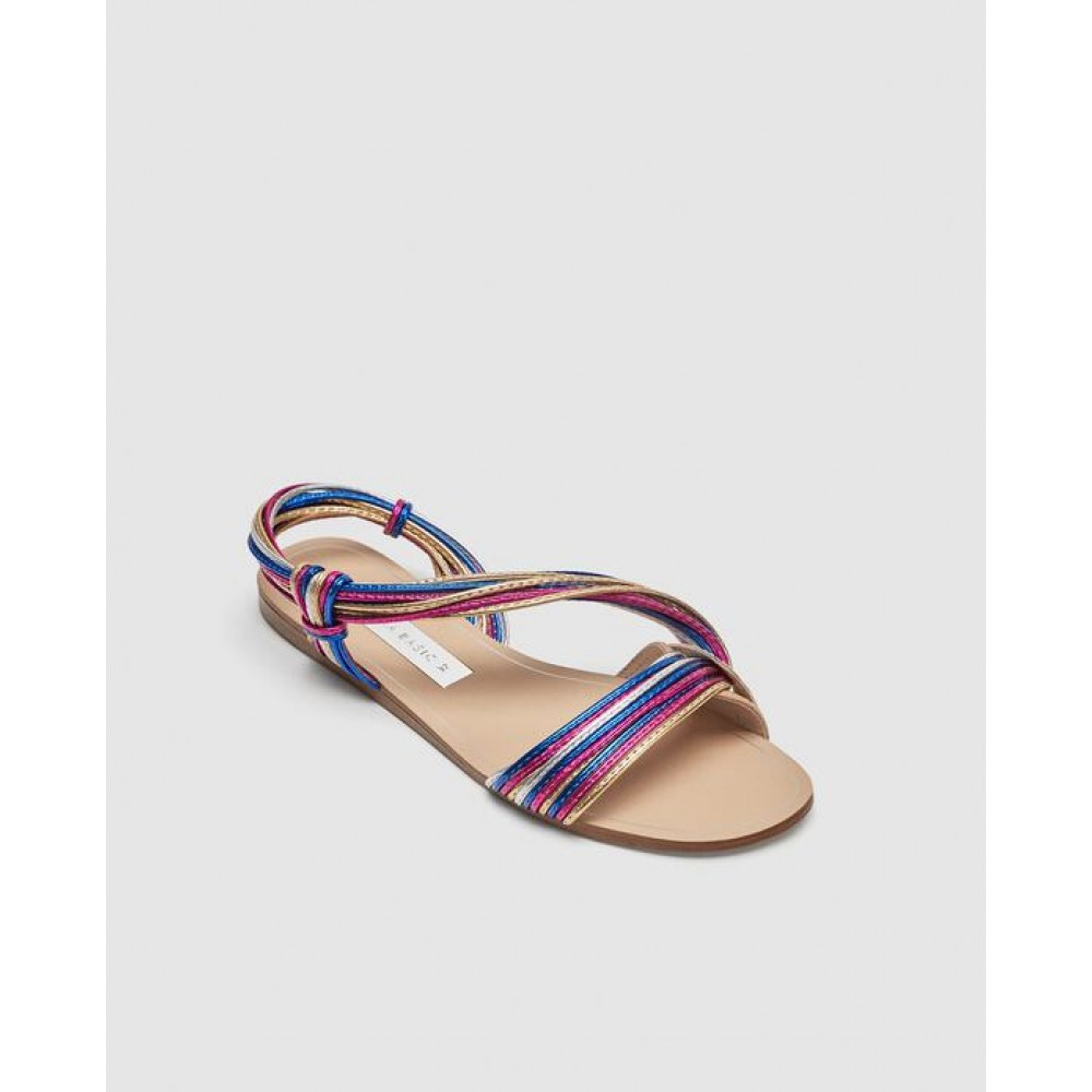 Zara Multicoloured Straps Sandals