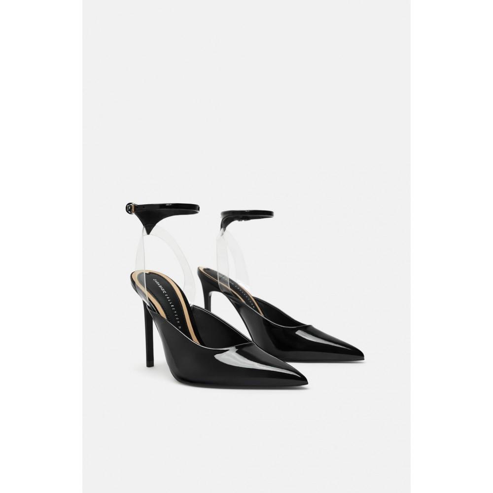 Zara Vinyl High Heel Shoes