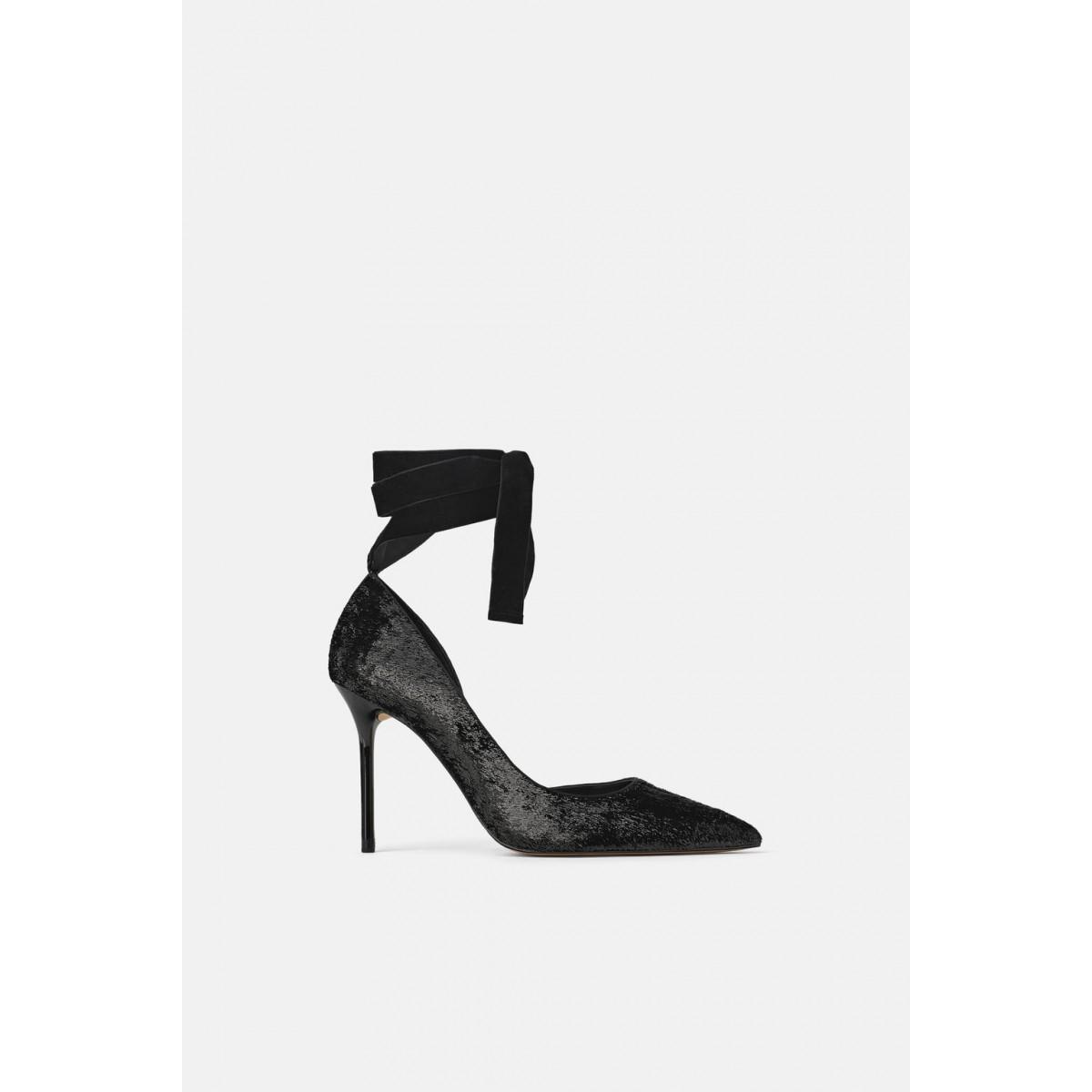 Zara Shimmer Effect High Heel Shoes