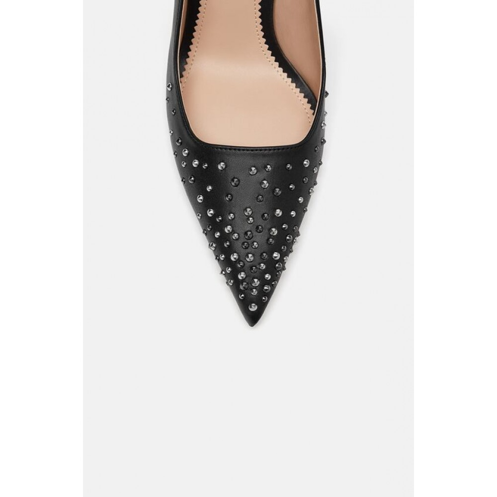 Zara Studded Slingback Court Shoes