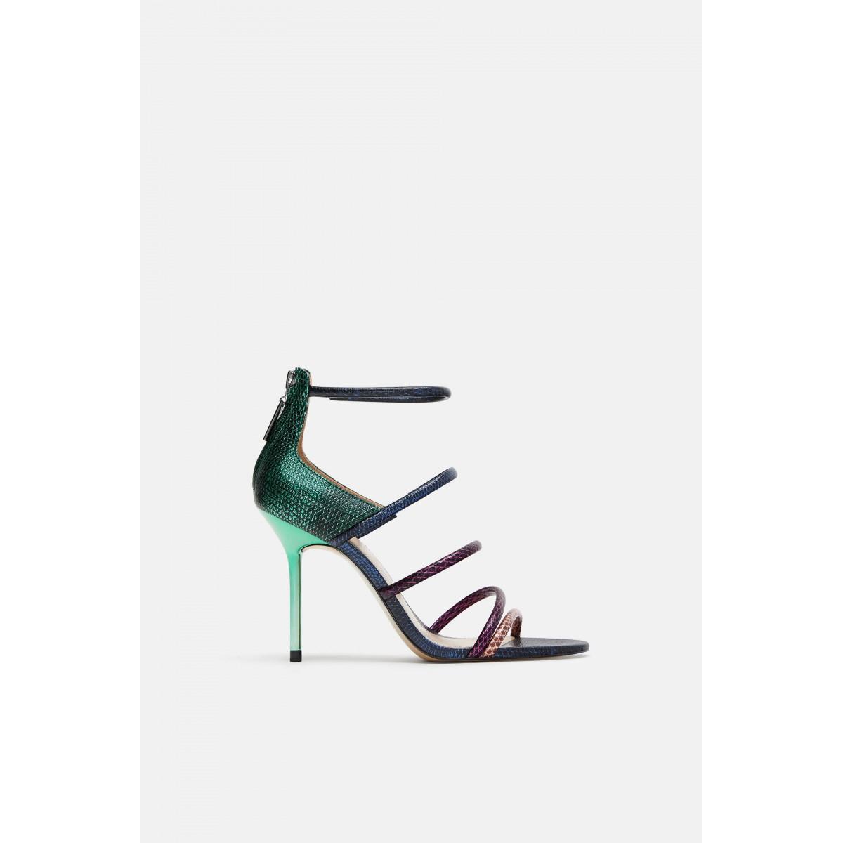 Zara Multicoloured Straps Sandals